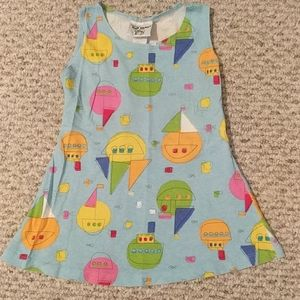 Girls sailboat sundress or bathing suit cover up